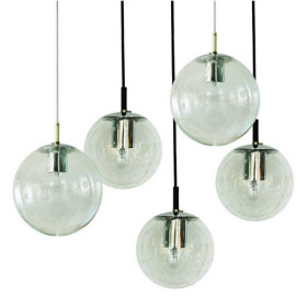 Very big extraordinary pendant 5 globes Raak HL1122 SOLD but